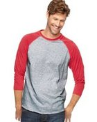 Fine Jersey Three-Quarter Sleeve Baseball T-Shirt