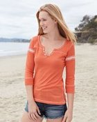 Women's Hailey Henley 3/4 Sleeve T-Shirt