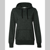 J America Ladies' Glitter French Terry Hooded Pullover