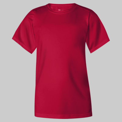 Youth B-Dry Core T-Shirt with Sport Shoulders