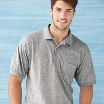 DryBlend™ Jersey Sport Shirt with a Pocket Thumbnail