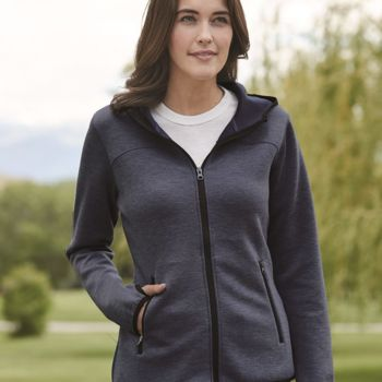 Heat Last Women's Fleece Tech Hooded Full-Zip Sweatshirt Thumbnail